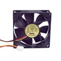 Ventilator 80x80x25mm, Gembird, 3-pin, crna