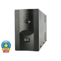 UPS Gembird 650VA, Energenie, 650, 390W, Line Interactive, 2x IEC, crna, 24mj, (UPS-PC-652A)