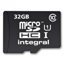 SD HC 32GB Integral micro SDHC CL10 + Adapter (INMSDH32G10-40U1)