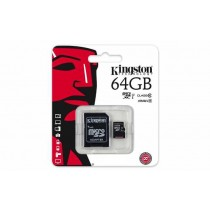 SD XC 64GB class 10/UHS-I, Kingston, micro + Adapter, SDC10G2/64GB, SDXC, 12mj