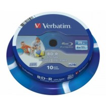 BD-R Verbatim 6× 25GB, LTH, 10kom, SL WIDE PRINTABLE, spindle (Single Layer) (43751)