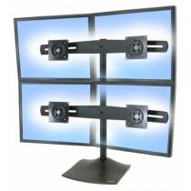 Ergotron Quad monitor stand (2x2), Black, 33-324-200
