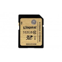 SD XC 512GB, Kingston, SDHC/SDXC Class 10 UHS-I Card, SDA10/512GB, 90/45 MB/s, 36mj