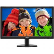 "Monitor Philips 23.6"", 243V5LHAB5/00, 1920x1080, LCD LED, TN, 1ms, 170/160º, VGA, HDMI, DVI-D, Zvučnici, crna, 24mj"
