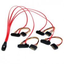 Kabel SAS SFF-8087 to 4x SAS SFF-8482, 50cm (SAS808782P50)