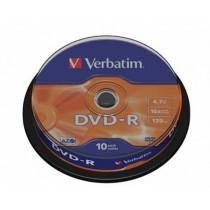 DVD-R Verbatim 4.7 GB 16x Cake 10 (43523)