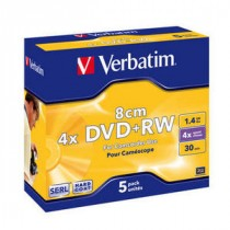 Verbatim DVD+RW 8cm Matt Silver, 5 komada, 1.4GB, max 4x, (43565)