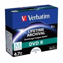 Verbatim M Disc DVDR, Printable, 4.7GB, max 4x, 5kom, CDBOX, (43821)