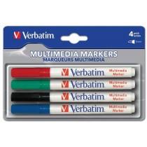 Verbatim markeri, četiri boje, 1mm (plava, crvena, zelena, crna) 44120