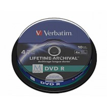 Verbatim M Disc DVDR, Printable, 4.7GB, max 4x, 10kom, spindle, (43824)
