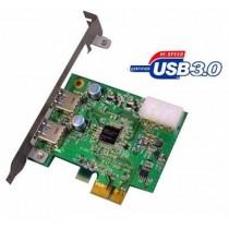 Kontroler USB 3.0 PCIe  x1, 2x USB 3.0