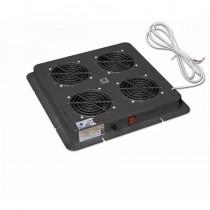 "Ventilator 19"" ZPAS WN-0200-06-01-161, crna, 4 x vent."