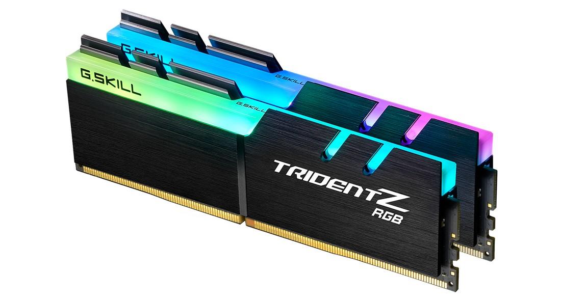 DDR4 32GB (2x16GB), DDR4 3600, CL18, DIMM 288-pin, G.Skill Trident Z RGB F4-3600C18D-32GTZR, 36mj