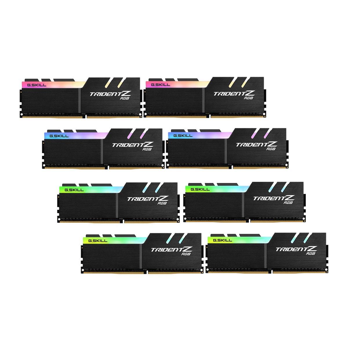 DDR4 64GB (8x8GB), DDR4 4000, CL18, DIMM 288-pin, G.Skill Trident Z RGB F4-4000C18Q2-64GTZR, 36mj