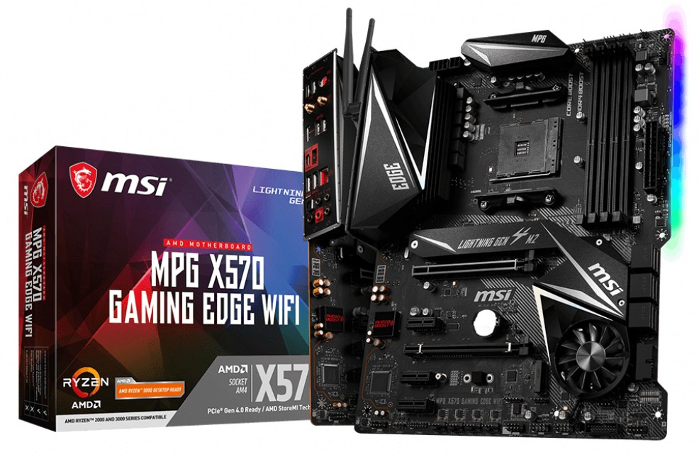 MB MSI MPG X570 Gaming Edge Wifi, AM4, ATX, 4x DDR4, AMD X570, HDMI, WL, 36mj (7C37-001R)