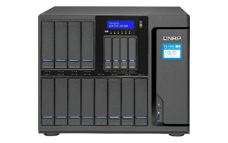 NAS QNAP TS-1685-D1521-16G,  max. 12x + 4x disk, LAN 6x, Tower, 36mj