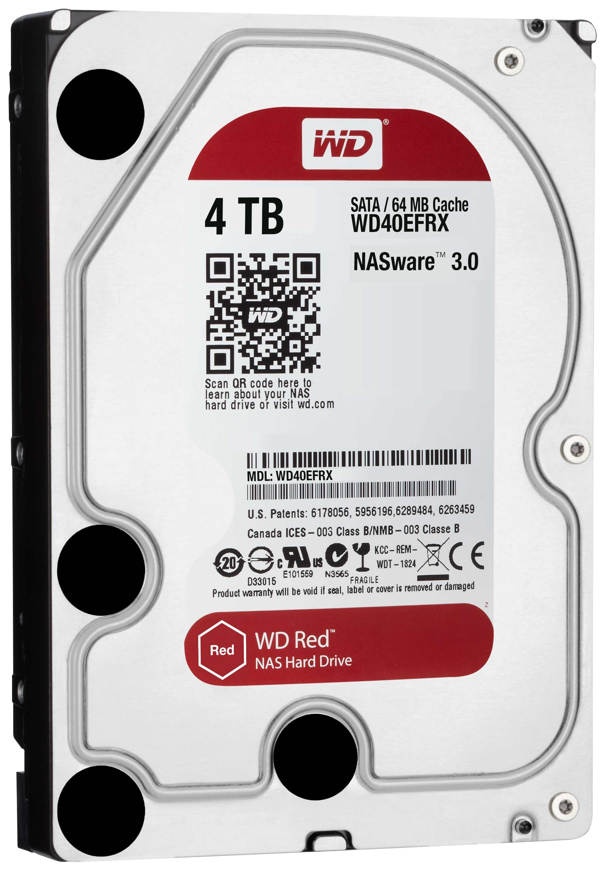 "HDD WD 4TB, Server RED, WD40EFRX, 3.5"", SATA3, 5400RPM, 64MB, 36mj"