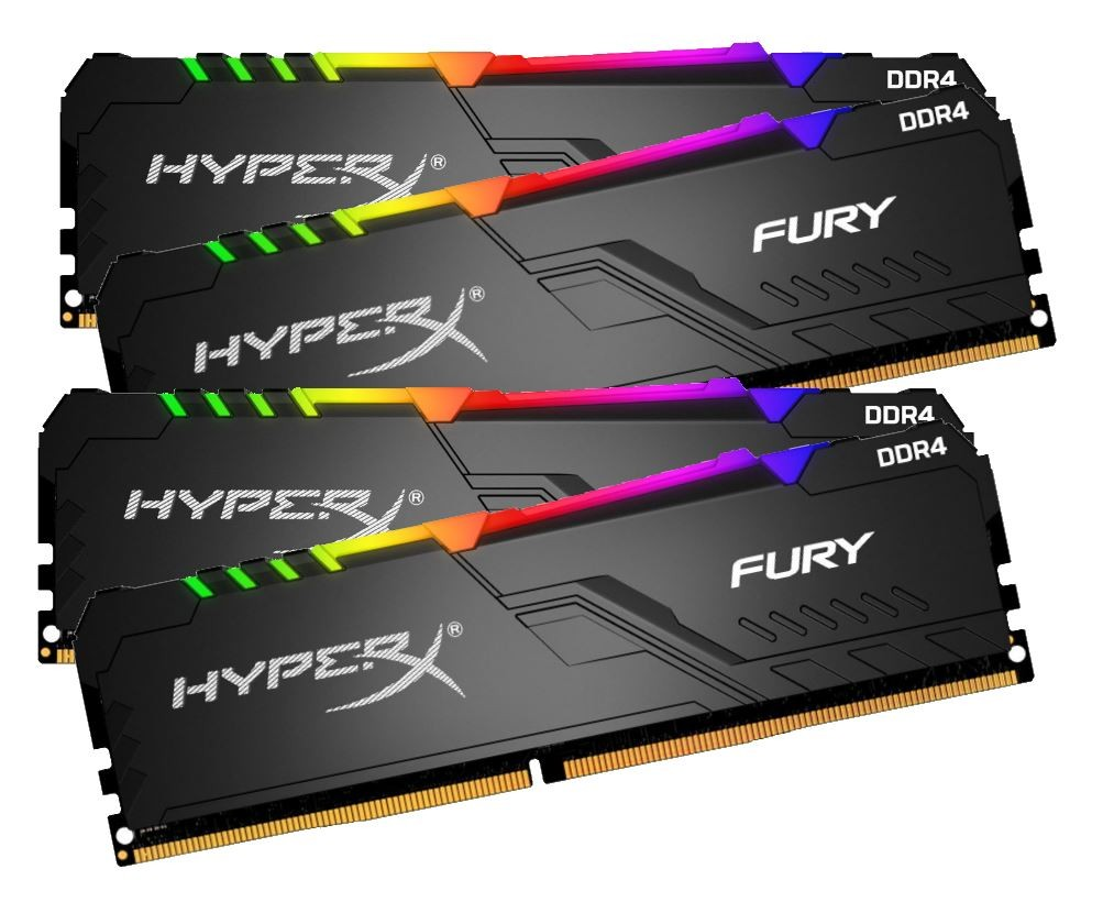 DDR4 32GB (4x8GB), DDR4 3000, CL15, DIMM 288-pin, Kingston HyperX Fury RGB HX430C15FB3AK4/32, 36mj