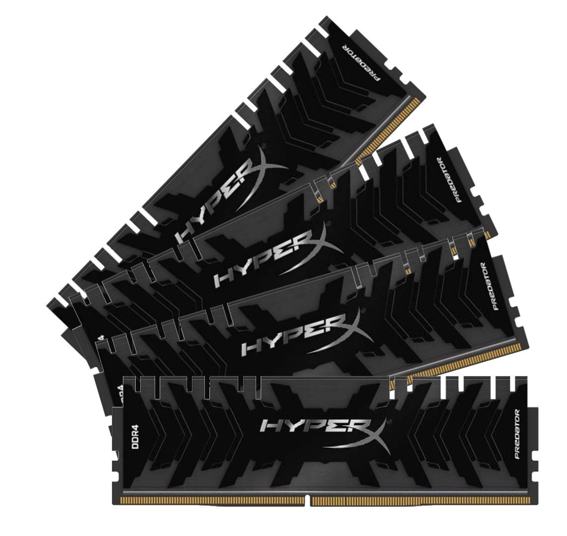 DDR4 64GB (4x16GB), DDR4 3600, CL17, DIMM 288-pin, Kingston HyperX Predator HX436C17PB3K4/64, 36mj