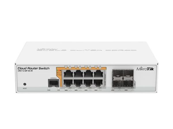 Mikrotik CRS112-8P-4S-IN, Switch 8x GbE, PoE