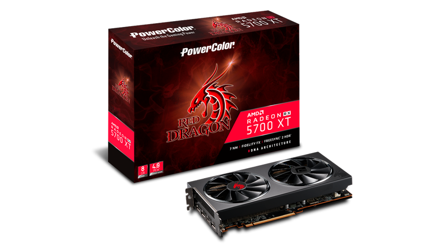 VGA PowerColor AXRX 5700XT 8GBD6-3DHR/OC, AMD RX 5700 XT, 8GB, do 1905MHz, 24mj