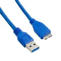 USB kabel 3.0 A-B Micro kabel 0.5m, A Male - Micro B Male, blue