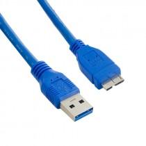 USB kabel 3.0 A-B Micro kabel 1.8m, A Male - Micro B Male, blue