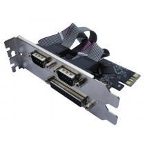 Kontroler IO PCIe to 2x Serial 1x Parallel (RS232C) retail (N-PE-1P2S + LP)