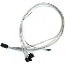 Kabel SAS SFF-8643 int -> 4x SATA with SB (SFF-8448), 0.8m, Adaptec (2279800-R)