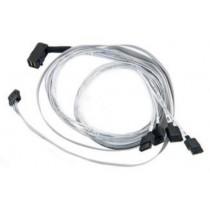 Kabel SAS SFF-8643 int 90deg -> 4x SATA with SB (SFF-8448), 0.8m Adaptec (2280000-R)