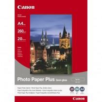 Papir Canon Photo Paper Plus Semi-Gloss SG-201 A4, Bijela, A4, 21cm x 29.7cm, 260g/m2, polusjajni, 20kom, Original, (1686B021)