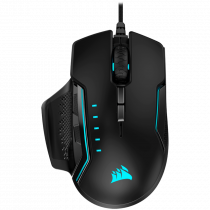 Miš Corsair GLAIVE RGB PRO Gaming Mouse — Black, Optički, USB, crna, 24mj, (CH-9302211-EU)