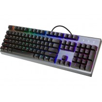 Tipkovnica CoolerMaster CK350, USB, Outemu Brown, srebrna, 24mj, US layout, (CK-350-KKOM1-US)