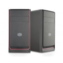 Kućište CoolerMaster MasterBox E300L Red, crna, Micro ATX, 24mj (MCB-E300L-KN5N-B00)