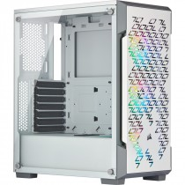 Kućište Corsair iCUE 220T RGB Airflow Tempered Glass Mid-Tower Smart Case - White, bijela, ATX, 24mj (CC-9011174-WW)
