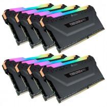 DDR4 128GB (8x16GB), DDR4 3600, CL18, DIMM 288-pin, Corsair Vengeance RGB Pro CMW128GX4M8X3600C18, 36mj