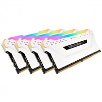 DDR4 64GB ( DDR4 64GB PC 3000 CL15 CORSAIR KIT (4x16GB) Vengeance RGB wh (CMW64GX4M4C3000C15W)