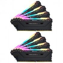 DDR4 64GB (8x8GB), DDR4 3200, CL16, DIMM 288-pin, Corsair Vengeance RGB Pro CMW64GX4M8C3200C16, 36mj