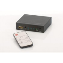 HDMI switch, 3-input, 1 output, 4K UHD 3D, HDCP1.3, with remote control (DS-48304)