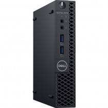 PC Dell OptiPlex 3070, JX26T, Micro, Intel Core i5 9500T 2.2GHz, 256GB SSD, 8GB, Intel UHD 630, Windows 10 Professional, crna, 12mj, Tipk., Miš