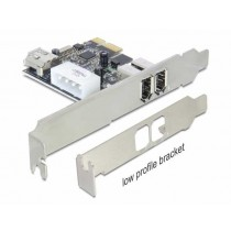 Kontroler Firewire 400 3x, Delock 89213, PCIe x1, 12mj