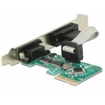 Kontroler IO 2x serial (RS232) PCIe x1, 12mj, Delock 89918
