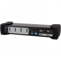 PC Preklopnik KVM Digitus Dual Monitor 4-Port Combo KVM Switch, crna (331544)