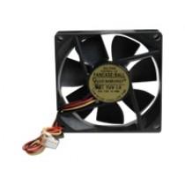 Ventilator 80x80x25mm, Gembird FANCASE/BALL, 3-pin, crna