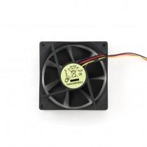 Ventilator 120x120x25mm, Gembird, 3-pin, crna, ball bearing (FANCASE3/BALL)