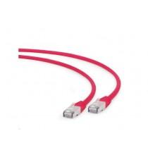 Patch kabel S/FTP 0.25m, Cat 6A, LSZH, Gembird PP6A-LSZHCU-R-0.25M, crvena