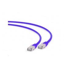 Patch kabel S/FTP 0.5m, Cat 6A, LSZH, Gembird PP6A-LSZHCU-V-0.5M, ljubičasta