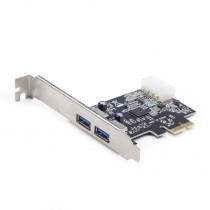 Kontroler USB 3.0 PCIe  x1, 2x USB 3.0 Gembird (UPC-30-2P)
