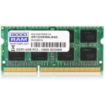 DDR3 4GB (1x4GB), DDR3 1333, CL11, SO-DIMM 204-pin, GoodRAM GR1600S364L11S/4G, 24mj