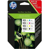 Tinta HP 950XL Bk + 951XL CMY, 4-pack, C2P43AE